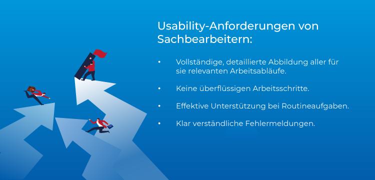 Usability-Anforderungen von Sachbearbeitern.