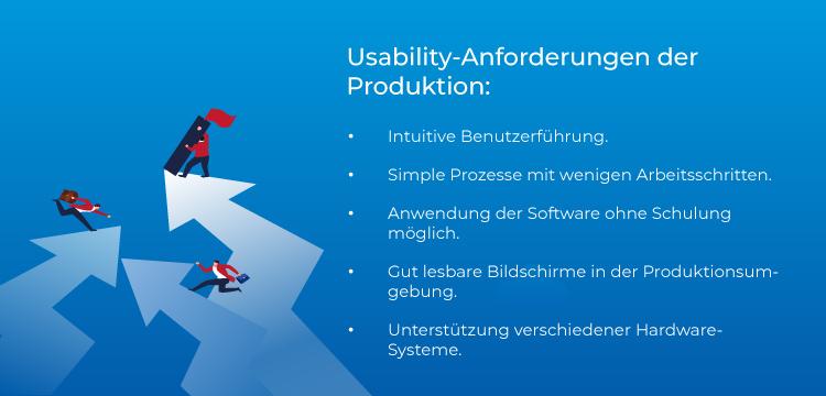 Usability-Anforderungen der Produktion.