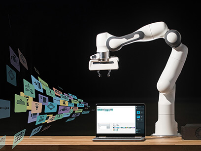 Asseco stand features Panda the collaborative robot: just another software user